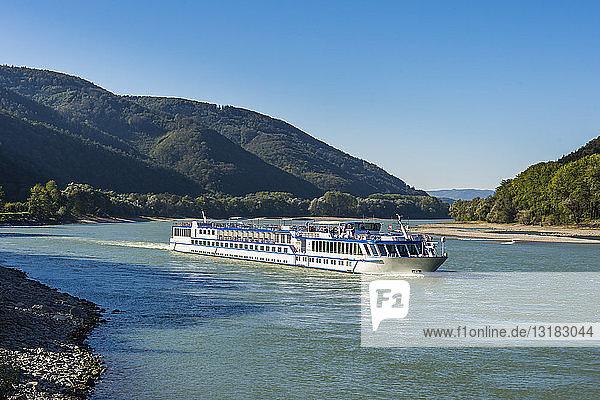 Austria  Wachau  Cruise ship on the Danube