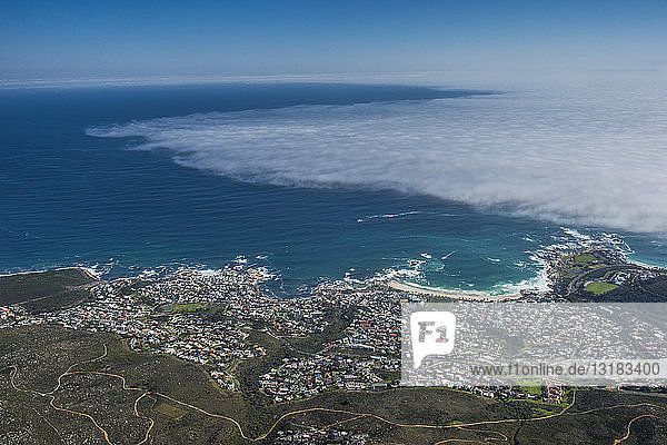 South Africa  Cape Town  Camps Bay seen from Table mountain