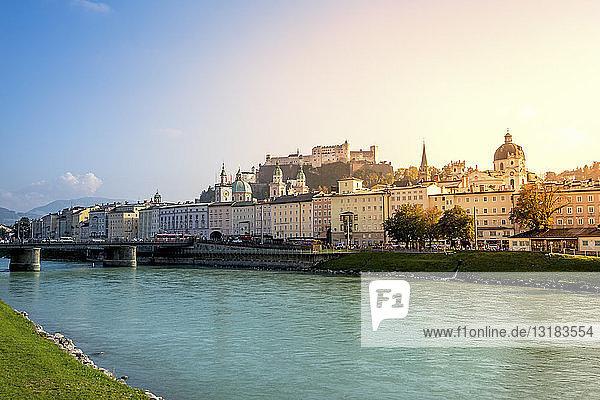 Österreich  Salzkammergut  Salzburg  Panorama der Stadt
