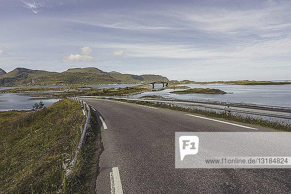 Norway  Lapland  Vesteralen Islands  Empty road