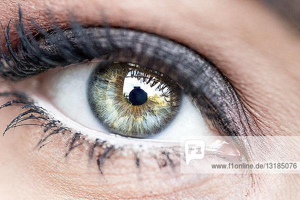 Auge der Frau  Nahaufnahme