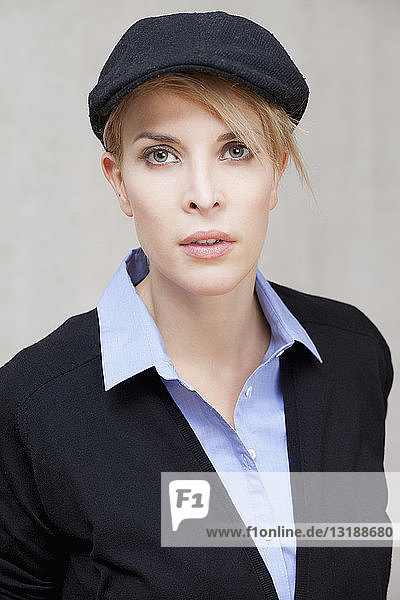 Portrait confident  stylish young woman