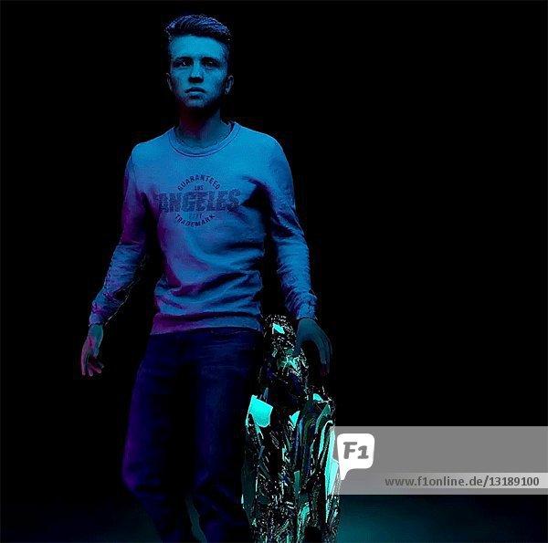 Young Man Doing Back Flip  CGI Effect