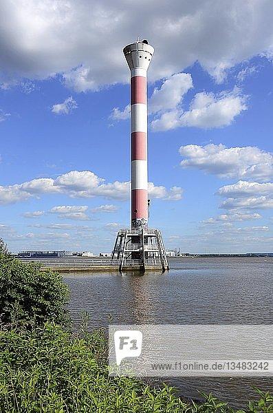 Leuchtturm  Elbe  Blankenese  Hamburg  Deutschland  Europa