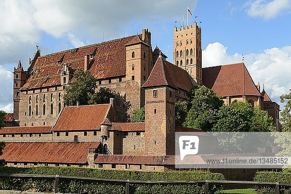 Hochschloss  Schloss Marienburg  Malbork  Pommern  Polen  Europa