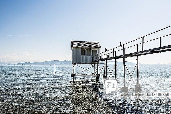Badehäuschen  Wasserburg  Bodensee  Bayern  Deutschland  Europa