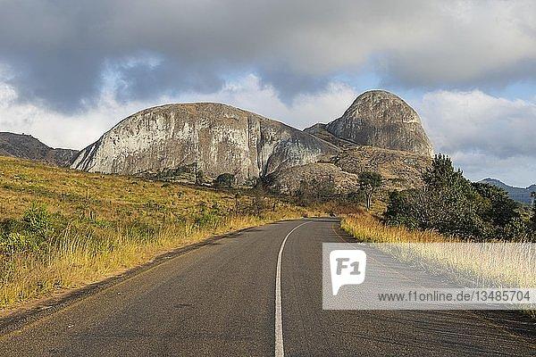 Granite rocks near the main road  Western Malawi  Malawi  Africa