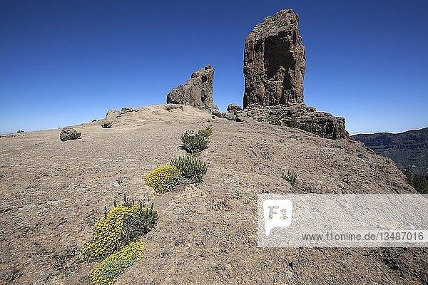 Roque Nublo  Kultfelsen der Altkanarier  Gran Canaria  Kanarische Inseln  Spanien  Europa