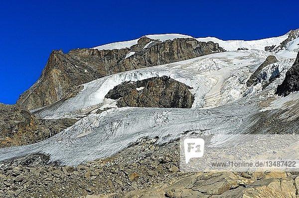 Monte Rosa-Gletscher  Monte-Rosa-Massiv  Zermatt  Wallis  Schweiz  Europa
