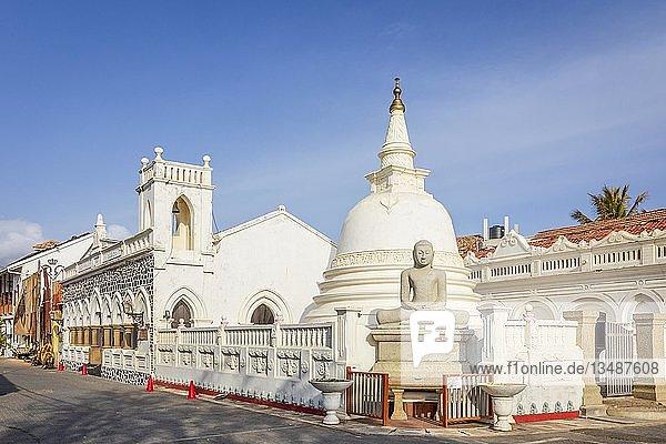 Sri sudharmalaya Buddhistischer Tempel  Galle Fort  Galle  Pettigalawatta Region  Südliche Provinz  Sri Lanka  Asien