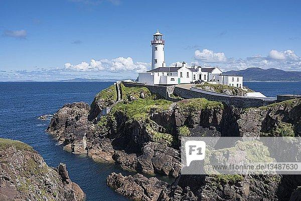 Leuchtturm am Fanad Head  County Donegal  Irland  Europa