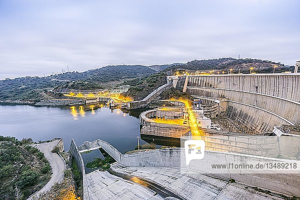 Power plant on Alqueva water dam  Moura  Portugal  Europe