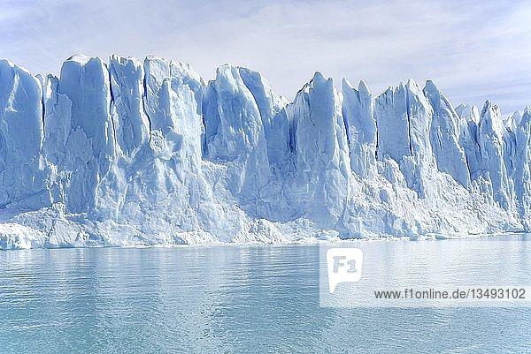 Gletscher Perito Moreno am türkisblauen See Lago Argentino  Parque Nacional Los Glaciares  Patagonien  Argentinien  Südamerika