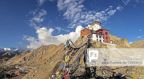 Namgyal Tsemo Gompa  mit Blick auf Leh  Ladakh  Kaschmir  Indien  Asien