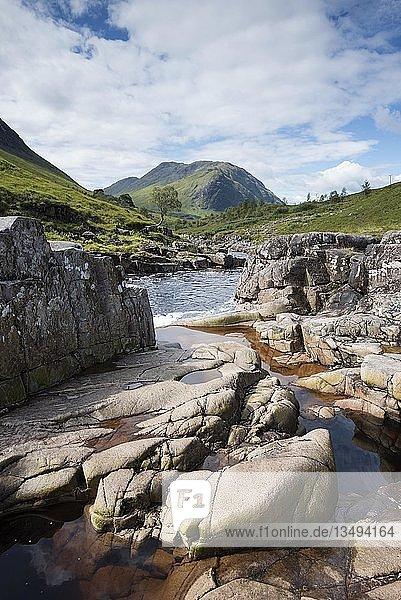 Etive River  Highlands  Schottland  Großbritannien  Europa