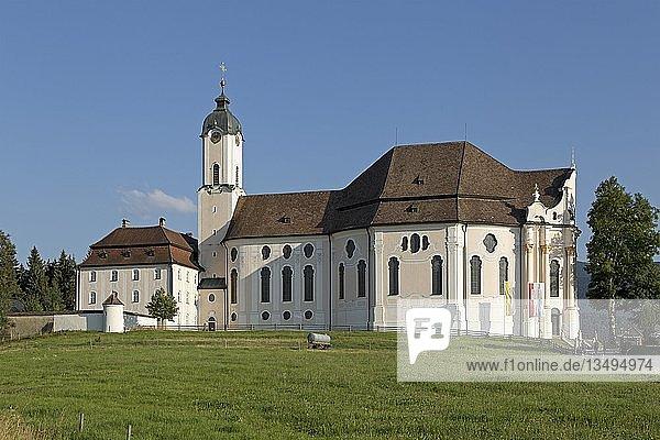Wieskirche bei Steingaden  Allgäu  Bayern  Deutschland  Europa