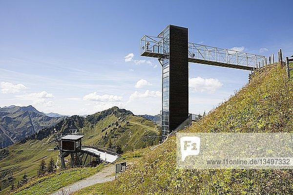 Aussichtsplattform am Walmendingerhorn  Kleinwalsertal  Allgäuer Alpen  Vorarlberg  Österreich  Europa