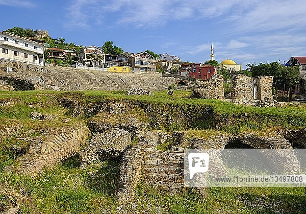 Römisches Amphitheater  Durres  Qark Durrës  Albanien  Europa
