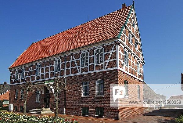 Werth´scher Hof  Herrensitz aus dem 17. Jahrhundert  historisches Gebäude  Borstel  Gemeinde Jork  Altes Land  Landkreis Stade  Niedersachsen  Deutschland  Europa
