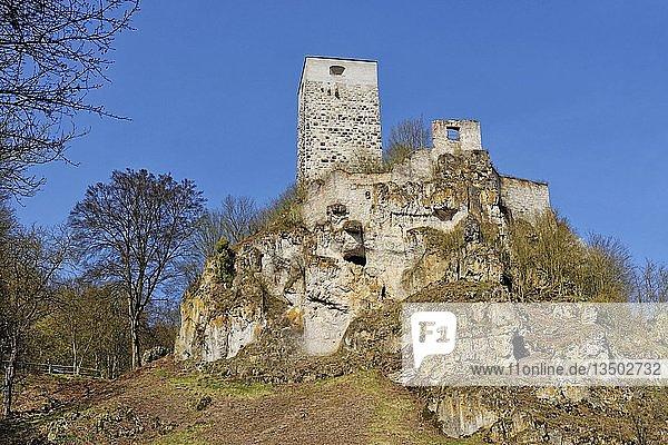 Wellheimer Burg im Naturpark Altmühltal  Wellheim  Naturpak Altmühltal  Bayern  Deutschland  Europa