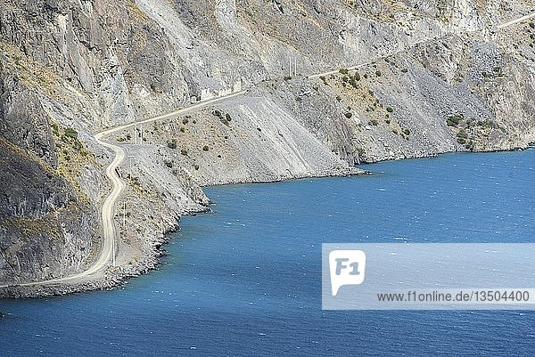 Straße von Chile Chico nach Puerto Guadal am See Lago General Carrera (oder auch Lago Buenos Aires in Argentinien)  Patagonien  Chile  Südamerika