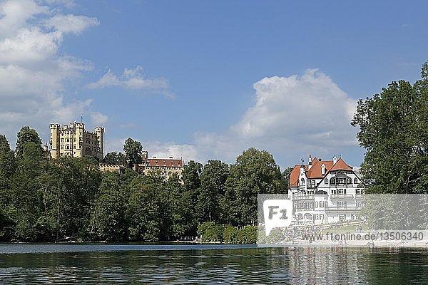 Schloss Hohenschwangau und Museum der bayerischen Könige  Hohenschwangau  Allgäu  Bayern  Deutschland  Europa