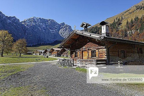 Eng-Alm  Großer Ahornboden  Rißtal  Karwendel-Gebirge  Tirol  Österreich  Europa