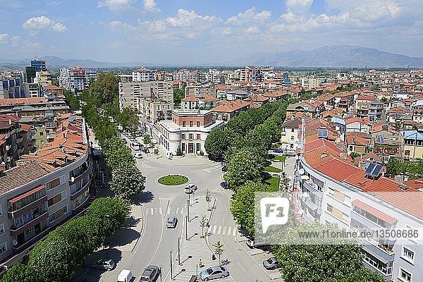 Ausblick vom Red Tower  Stadtzentrum  Korca  Albanien  Europa
