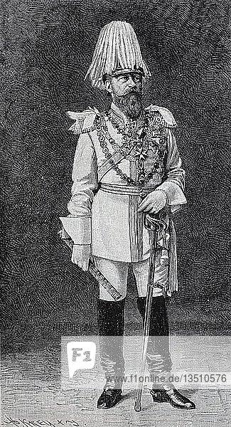 Friedrich III  18. Oktober 1831  15. Juni 1888  deutscher Kaiser und König von Preußen  Holzschnitt  Deutschland  Europa