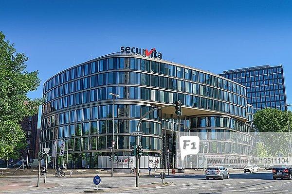 Gebäude der Securvita Krankenkasse  Lübeckertordamm  Hamburg  Deutschland  Hamburg  Hamburg  Deutschland  Europa