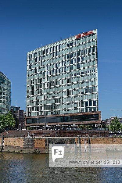Spiegel-Verlagshaus  Ericusspitze  Hafencity  Hamburg  Deutschland  Europa