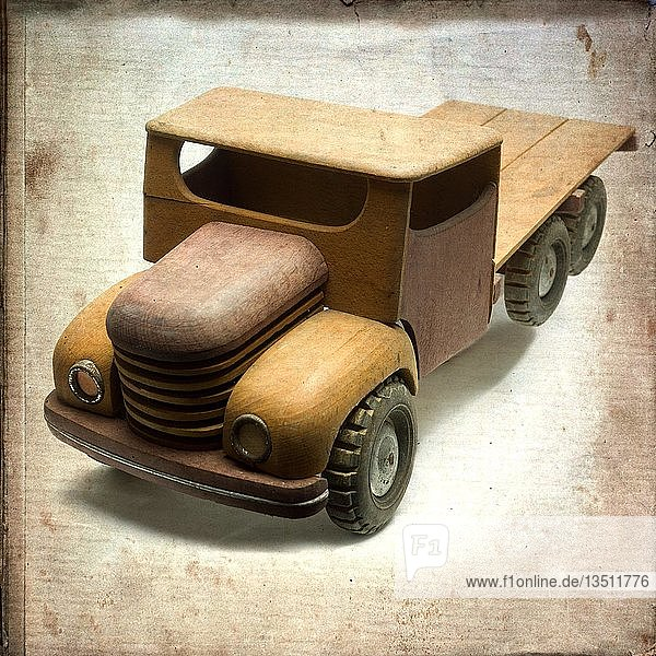 Old wooden truck toy  France  Europe