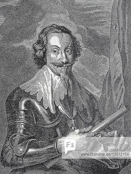 Gottfried Heinrich Graf zu Pappenheim  8. Juni 1594  17. November 1632  General im Dreißigjährigen Krieg  Holzschnitt  Deutschland  Europa