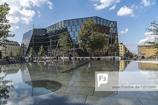 Die Universitätsbibliothek Freiburg im Breisgau  Schwarzwald  Baden-Württemberg  Deutschland  Europa