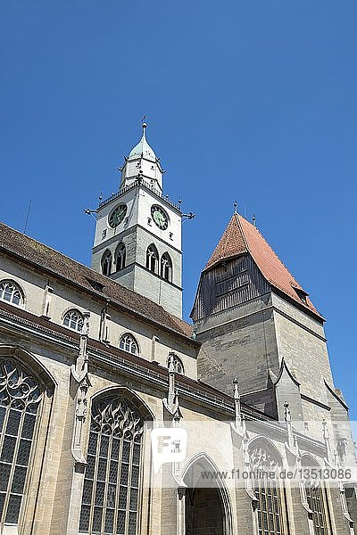 Die Kirche St. Nikolaus in der Altstadt von Überlingen  Bodenseekreis  Baden-Württemberg  Deutschland  Europa
