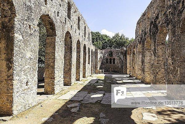 Basilika  antike Stadt Butrint  Nationalpark Butrint  Saranda  Albanien  Europa