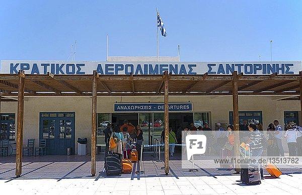 Flughafen Santorin  Kykladen  Ägäis  Griechenland  Europa