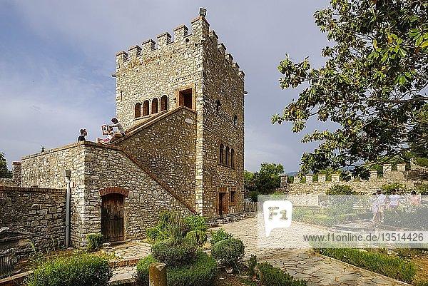 Venezianische Burg  antike Stadt Butrint  Nationalpark Butrint  bei Saranda  Qark Vlora  Albanien  Europa