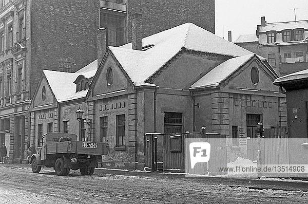 Altes Arbeitsamt  1963  Münzgasse  Leipzig  Sachsen  DDR  Deutschland  Europa