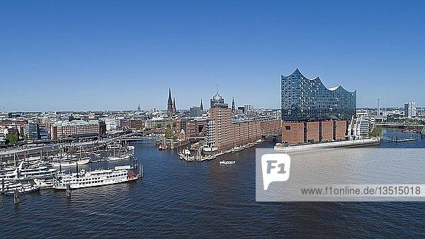 Luftaufnahme  Elbphilharmonie  HafenCity  Hamburg  Deutschland  Europa