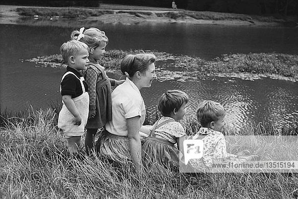 Kindergarten  Ausflug  1961  Rosental  Leipzig  Sachsen  DDR  Deutschland  Europa