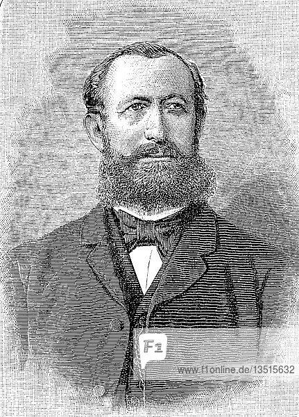 Hermann Senator  6. Dezember 1834  14. Juli 1911  war ein deutscher Internist aus Gnesen in der preußischen Provinz Posen  heute Polen  Holzschnitt aus dem Jahr 1888.
