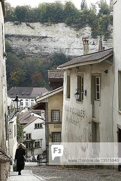 Stalden  Altstadt von Fribourg  Freiburg im Üechtland  französische Schweiz  Romandie  Schweiz  Europa
