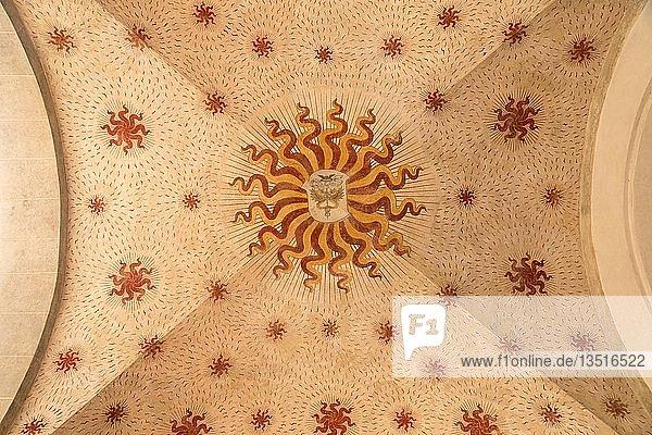 Wappen an der Decke des Castello Sforzesco  Mailand  Lombardei  Italien  Europa