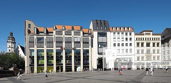 Marktgalerie und Thomaskirche  Markt  Leipzig  Sachsen  Deutschland  Europa