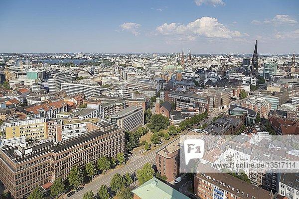 View over Hamburg  Germany  Europe