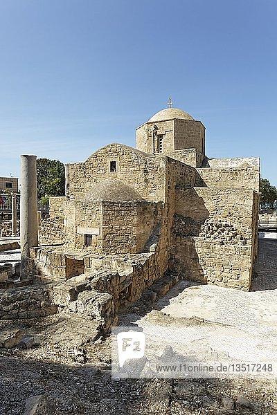 Archäologische Ausgrabungsstätte  frühchristliche Basilika der Panagia Chrysopolitissa  Kirche der Agia Kyriaki  Kato Pafos  Südzypern  Zypern  Europa