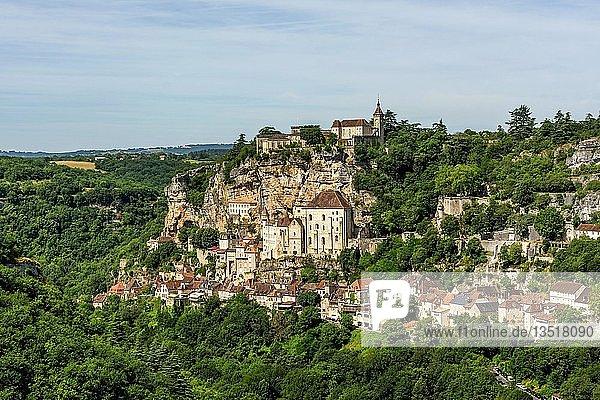 Pilgrimage site of Rocamadour  Lot department  Occitanie  France  Europe