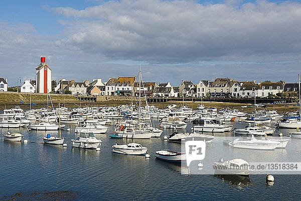Boats in port  Guilvinec  Finistere  Brittany  France  Europe