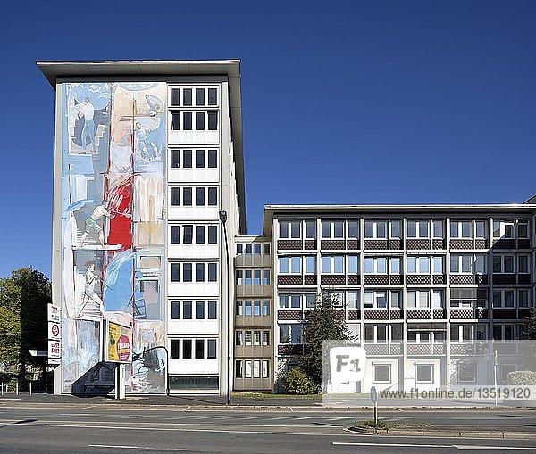 Verlags- und Redaktionsgebäude Westdeutsche Allgemeine Zeitung  WAZ  Funke-Mediengruppe  Essen  Ruhrgebiet  Nordrhein-Westfalen  Deutschland  Europa